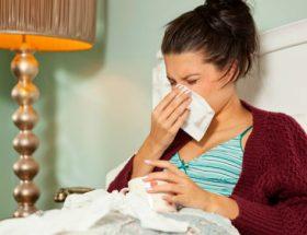 Mujer con Gripa