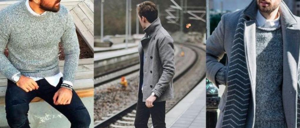 Hombres con ropa de invierno.