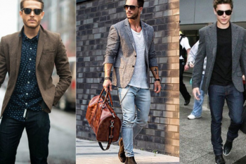 Hombres con diferentes tipos de sacos.