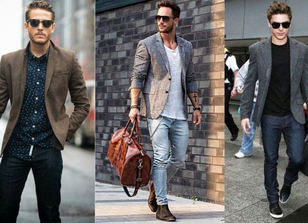 Cómo usar un saco de hombre de cuatro maneras increíbles