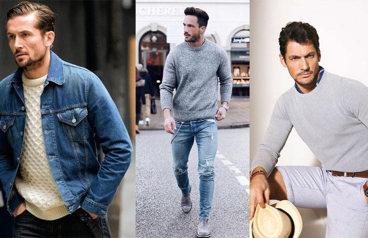 Estilos comunes de suéteres para hombres