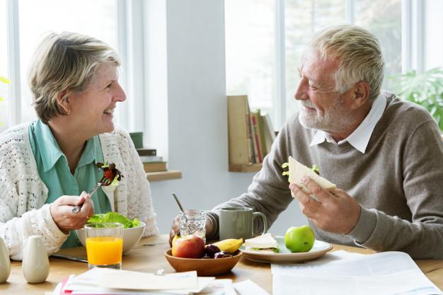 Una alimentación saludable en la vejez