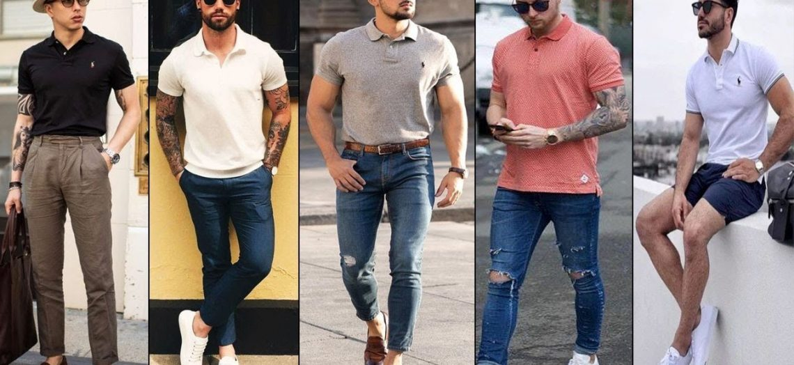 Hombres usando camisa slim fit